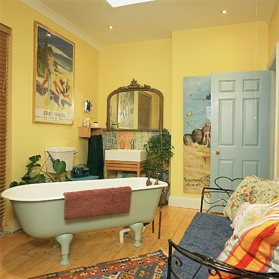 37 Sunny Yellow Bathroom Design Ideas Digsdigs