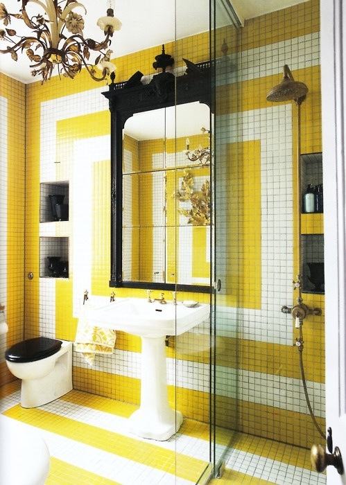 Delightful Yellow Bathroom Designs