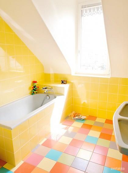 Vintage Yellow Bathroom Designs