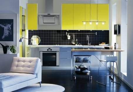 Yellow Kithen Cabinets