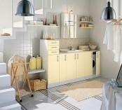 Yellow Laundry Room Design