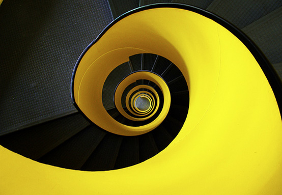 Yellow Spiral Staircase