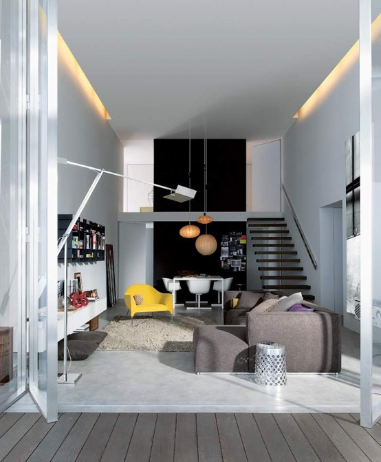 Young and Modern Interior Design of an Urban Apartment – My Life in 80m2 by Poliform