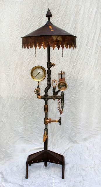 44 unique steampunk halloween decorating ideas digsdigs Steampunk home ideas