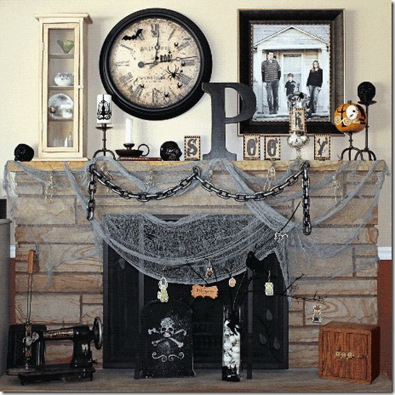 44 unique steampunk halloween decorating ideas digsdigs for Halloween home decorations