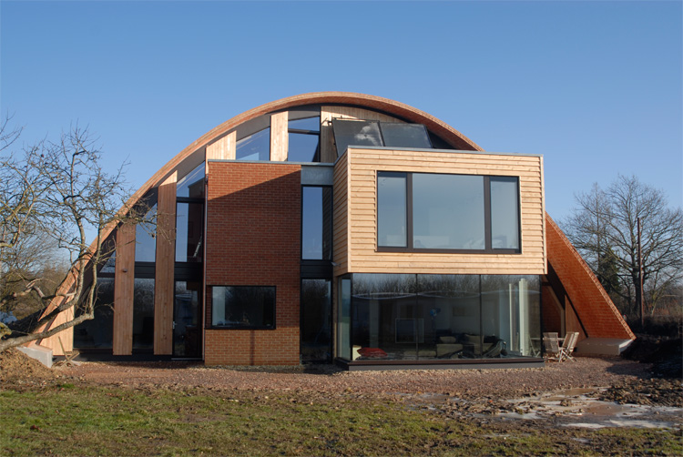Crossway zero carbon house in uk digsdigs Home arch design